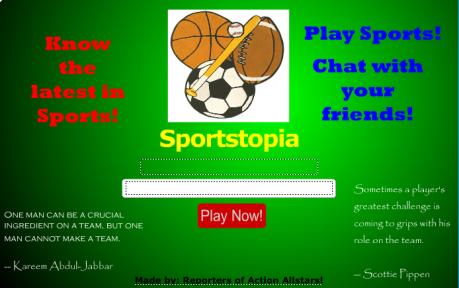 Sportstopia Home Page